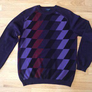 Ted Baker London Purple Merino Wool Sweater SZ M